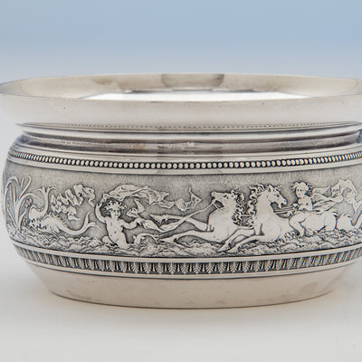 Classical Band on the Gorham Antique Sterling Silver Porringer, Providence, RI, 1874