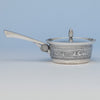 Gorham Antique Sterling Silver Covered Porringer, Providence, RI, 1874