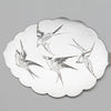 Server detail with birds J. E. Caldwell Antique Sterling Silver Buckwheat Pancake or Pastry Server, Philadelphia, c. 1880