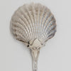 Bowl back on Tiffany & Co. 'Strawberry' Pattern Antique Sterling Silver Scallop Shell Bowl Serving Spoon, c. 1900