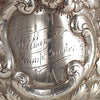Cup inscription Andrew Ellicott Warner: The Tucker Family Tea and Coffee Service, Baltimore, c. 1840