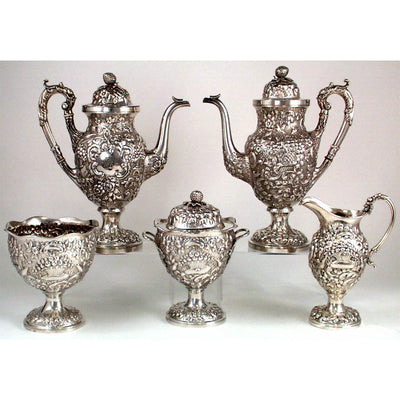 Andrew Ellicott Warner: The Tucker Family Tea and Coffee Service, Baltimore, c. 1840