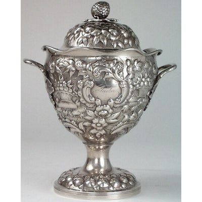 Sugar bowl of the Andrew Ellicott Warner: The Tucker Family Tea and Coffee Service, Baltimore, c. 1840