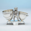 Back of Gorham Antique Sterling Silver Figural Dessert Cream & Sugar Stand, Providence, RI, 1870