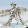 Detail of Gorham Antique Sterling Silver Figural Dessert Cream & Sugar Stand, Providence, RI, 1870
