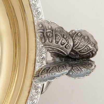 Moth from above Tiffany & Co. Antique Sterling Silver Centerpiece Bowl with Moth Handles, New York City, NY, c. 1874
