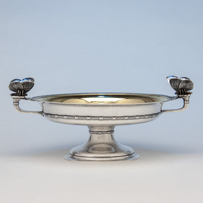 Tiffany & Co. Antique Sterling Silver Centerpiece Bowl with Moth Handles, New York City, NY, c. 1874
