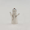 Shiebler Miniature Antique Sterling Silver and Enamel Coffee Pot/ Salt or Pepper Shaker, NYC, c. 1890