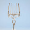 Tines on S. Kirk & Son Antique Coin Silver Serving Fork, Baltimore, MD, 1846-61