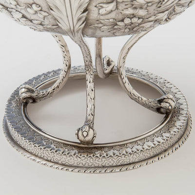 Base of S. Kirk & Son Rare  11oz Silver Fruit Stand or Centerpiece Bowl, Baltimore, MD, c. 1880