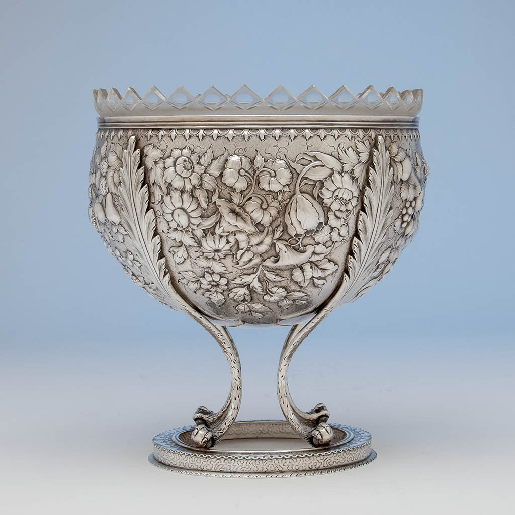 S. Kirk & Son Rare  11oz Silver Fruit Stand or Centerpiece Bowl, Baltimore, MD, c. 1880