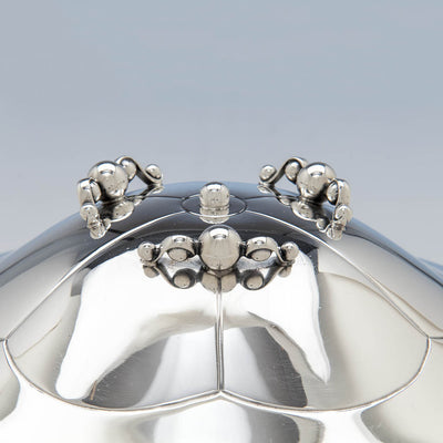 Handles and feet of Erik Magnussen for Gorham Sterling Silver Covered Centerpiece Bowl, Providence, RI, 1926
