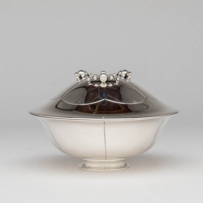 Erik Magnussen for Gorham Sterling Silver Covered Centerpiece Bowl, Providence, RI, 1926