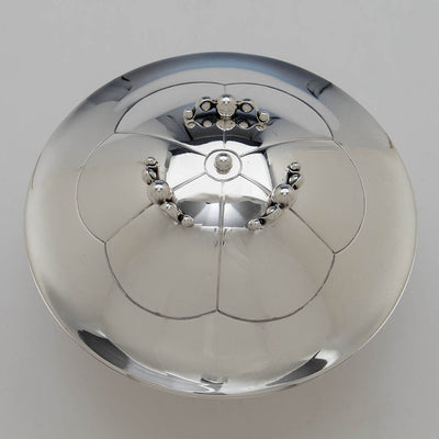 top of Erik Magnussen for Gorham Sterling Silver Covered Centerpiece Bowl, Providence, RI, 1926