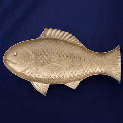 ANother view of Gorham Antique Sterling Silver Figural Fish Serving Platter, Providence, RI, 1884