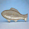 Gorham Antique Sterling Silver Figural Fish Serving Platter, Providence, RI, 1884