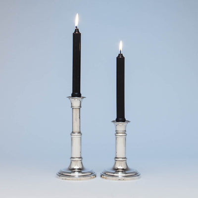 Matthew Boulton Rare George III Antique Sterling Silver Telescopic Candlesticks, Birmingham, 1812/13