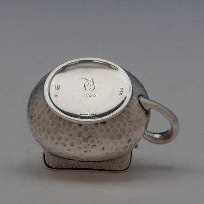 Marks on Dominick & Haff Antique Sterling Silver Covered Mustard Pot, NYC, 1883
