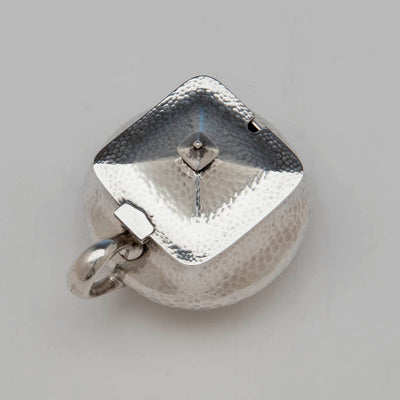Cover to Dominick & Haff Antique Sterling Silver Mustard Pot, NYC, 1883
