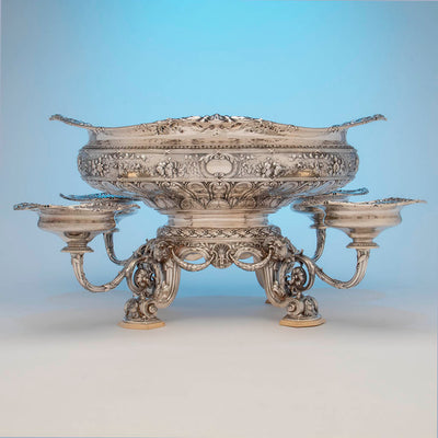 Gorham Rare 'Sample' Massive Antique Sterling Silver 'Louis XVI' Centerpiece, Providence, RI, c. 1910