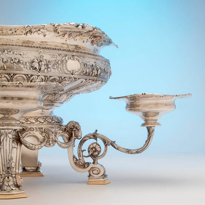 Side dish to Gorham Rare 'Sample' Massive Antique Sterling Silver 'Louis XVI' Centerpiece, Providence, RI, c. 1910