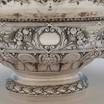 Reserve detail on Gorham Rare 'Sample' Massive Antique Sterling Silver 'Louis XVI' Centerpiece, Providence, RI, c. 1910