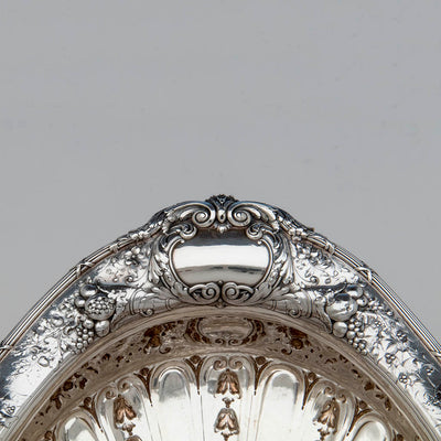Bowl handle of Gorham Rare 'Sample' Massive Antique Sterling Silver 'Louis XVI' Centerpiece, Providence, RI, c. 1910