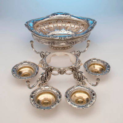 Parts to Gorham Rare 'Sample' Massive Antique Sterling Silver 'Louis XVI' Centerpiece, Providence, RI, c. 1910