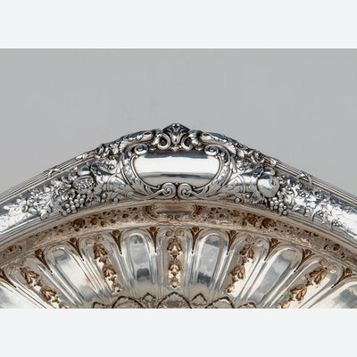 Rim to Gorham Rare 'Sample' Massive Antique Sterling Silver 'Louis XVI' Centerpiece, Providence, RI, c. 1910
