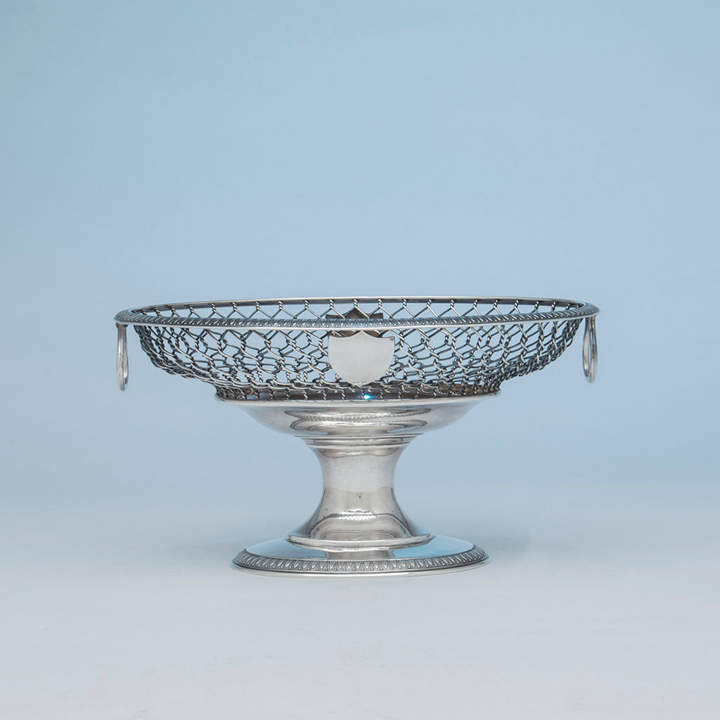 William Gale & Son Antique Sterling Silver Fruit or Centerpiece Bowl, New York City, 1862