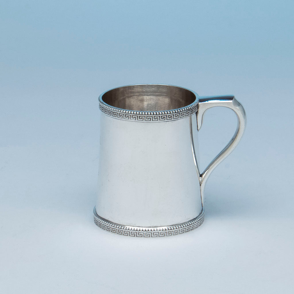 Tiffany and Co. Antique Sterling Silver Large Child's Cup by Moore, New York City, NY, c. 1858