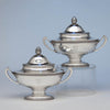 Tiffany & Co Pair of Antique Sterling Silver Tureens, New York City, 1870-75