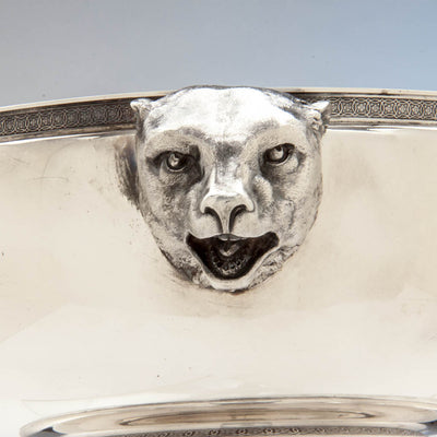 Polar bear on Tiffany & Co Antique Sterling Silver Figural Ice Bowl, New York City, c. 1870-75