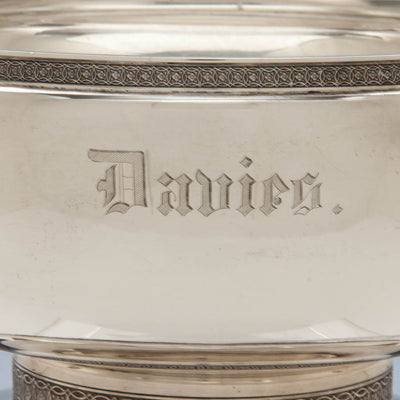 Name on Tiffany & Co Antique Sterling Silver Figural Ice Bowl, New York City, c. 1870-75