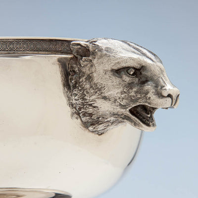 Profile of Tiffany & Co Antique Sterling Silver Figural Ice Bowl, New York City, c. 1870-75