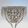 Repousse on S. Kirk & Sons Rare 11oz Silver Fruit Stand or Centerpiece Bowl, Baltimore, MD, 1860-68