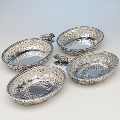 Parts to S. Kirk & Sons Rare Pair of 11oz Silver Covered 'Double-dish' Entrée Servers, Baltimore, MD, 1861-68