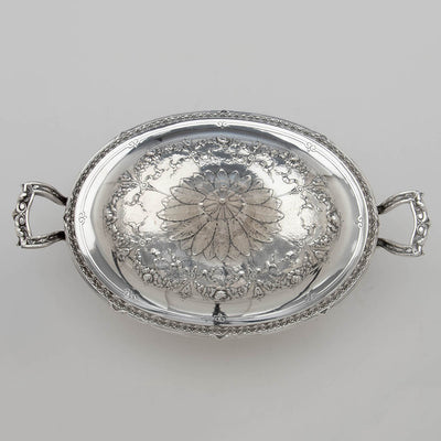 Gorham Rare Pair of Antique Sterling Silver 'Louis XVI' Vegetable Dishes, Providence, RI, 1907, 1911