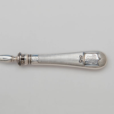 Handle to Louis Lotat Antique French 1st Standard (.950) Silver Fish Server, Paris, mid 19th century
