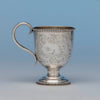 George Sharp for Bailey & Co Sterling Silver Child's Cup, Philadelphia, PA, 1855
