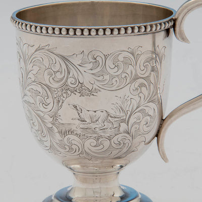 Dog on George Sharp for Bailey & Co Sterling Silver Child's Cup, Philadelphia, PA, 1855