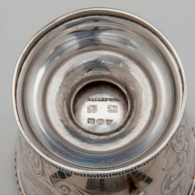 Marks on George Sharp for Bailey & Co Sterling Silver Child's Cup, Philadelphia, PA, 1855