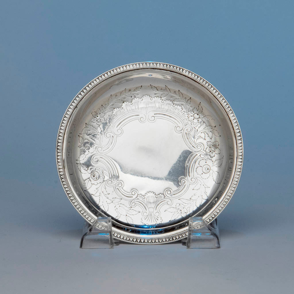 Marquand & Co Antique Coin Silver Dish, New York City, NY, 1833-39