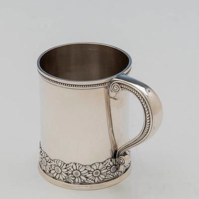 Handle to Tiffany & Co Antique Sterling Silver Child's Cup, NYC, c. 1875