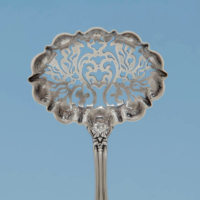 Bowl to Tiffany & Co 'Richelieu' Pattern Antique Sterling Silver Sugar Sifter, NYC, c. 1890's