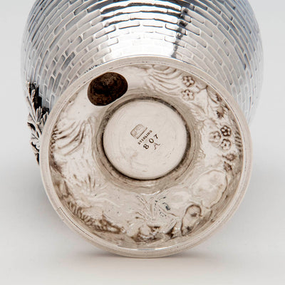 Whiting Antique Sterling Silver and Mixed Metal Aesthetic Movement Vase, New York, c. 1882