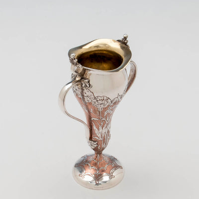 Interior of Tiffany & Co Antique Sterling Silver and Copper Vase, NYC, NY, 1903