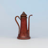 Gorham Antique Copper Demitasse Pot, Providence, RI, c. 1880's