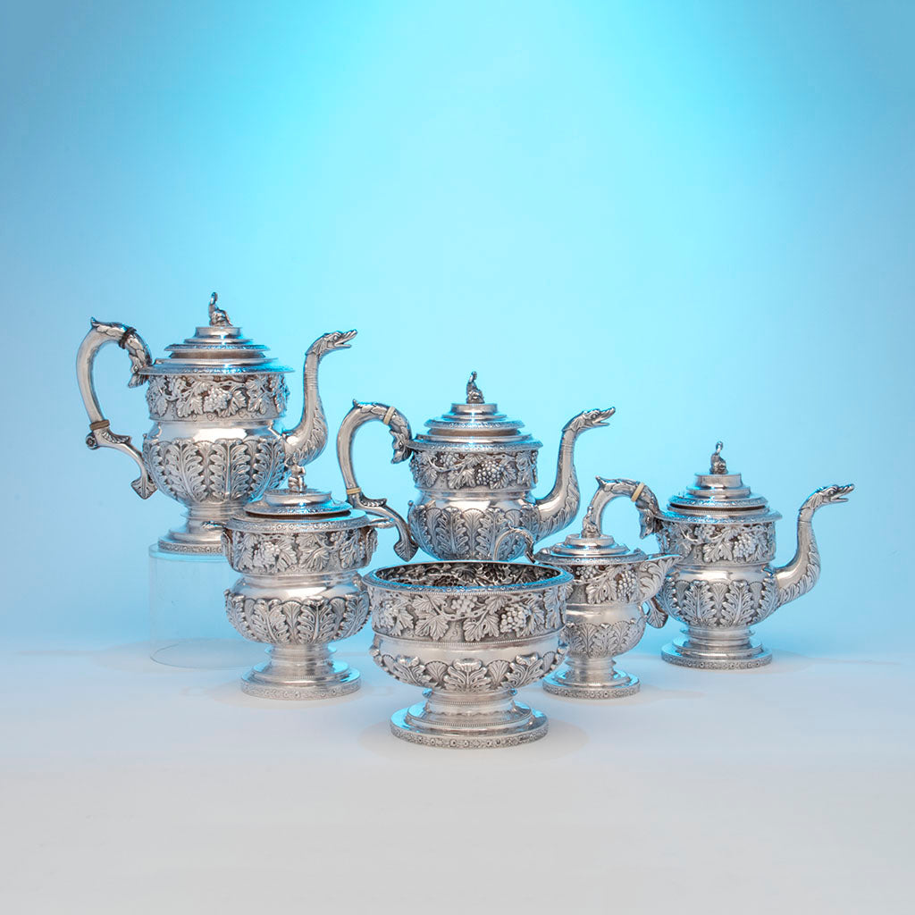 Kirk, Samuel Antique sterling Silver Coffee Service, Baltimore, MD, c. 1823