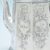 Monogram and horse on Rich, Obadiah (attr.) 6-piece Antique Coin Silver Coffee and Tea Service, retailed by Lows, Ball & Company, Boston, c. 1840's